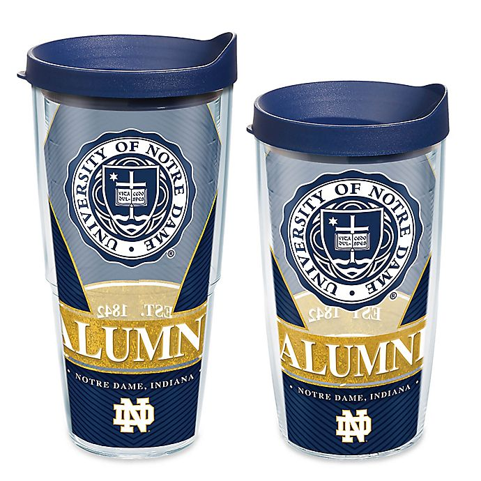 c8cddc2a2defd Tervis® University of Notre Dame Fighting Irish Alumni Wrap Tumbler with Lid