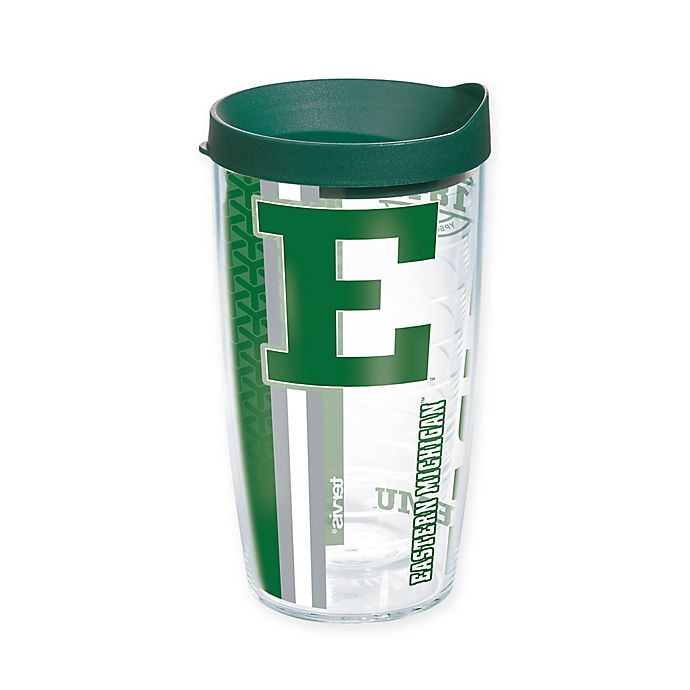Alternate image 1 for Tervis® Eastern Michigan University Eagles 16 oz. Pride Wrap with Lid
