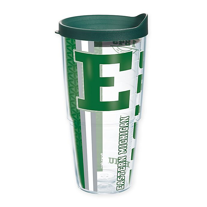 Alternate image 1 for Tervis® Eastern Michigan University Eagles 24 oz. Pride Wrap with Lid