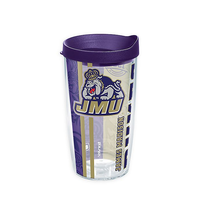 Alternate image 1 for Tervis® James Madison University Dukes 16 oz. Pride Wrap with Lid