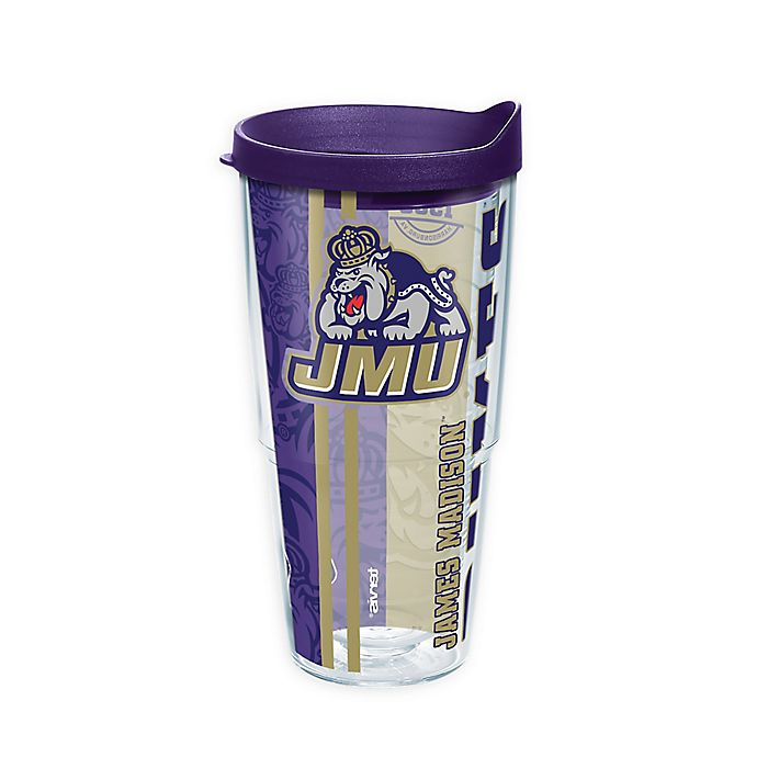 Alternate image 1 for Tervis® James Madison University Dukes 24 oz. Pride Wrap with Lid