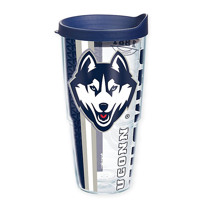 Alternate image 1 for Tervis® University of Connecticut Huskies 24 oz. Pride Wrap with Lid