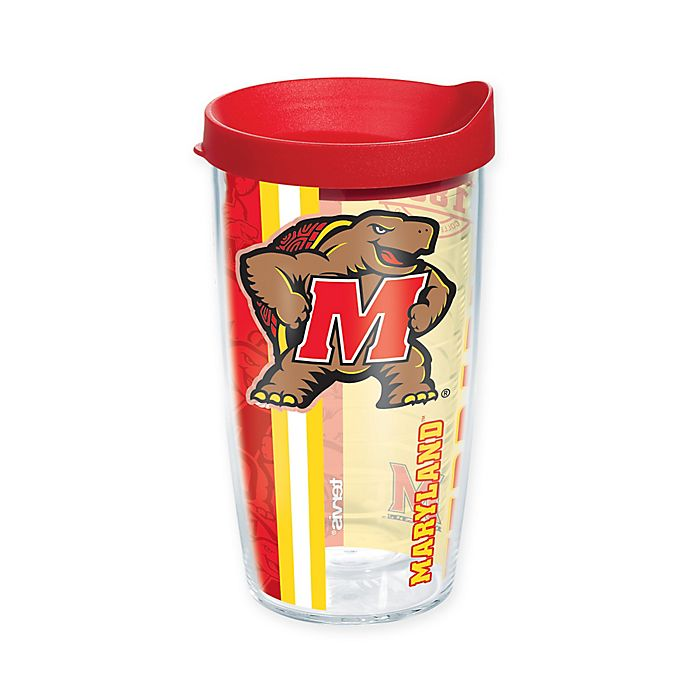 Alternate image 1 for Tervis® University of Maryland Terrapins 16 oz. Pride Wrap with Lid