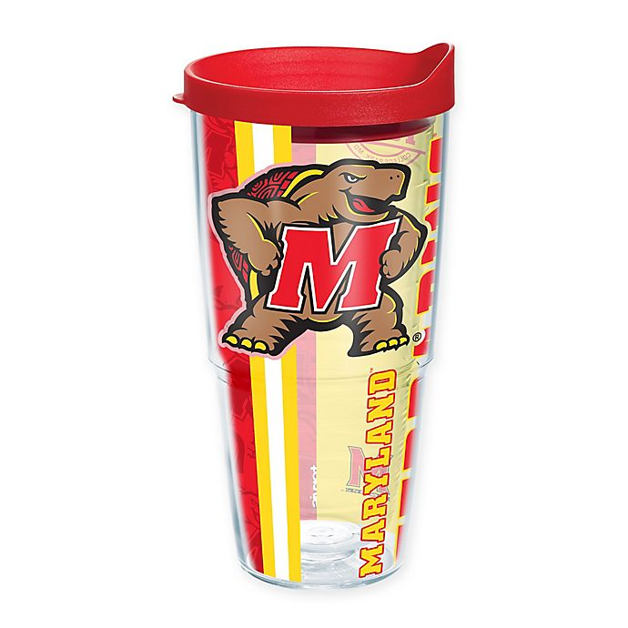 Alternate image 1 for Tervis® University of Maryland Terrapins 24 oz. Pride Wrap with Lid
