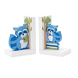 Reed & Barton Hazelnut Hollow Raccoon Bookends