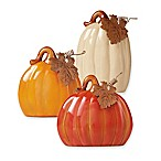 Ceramic 3-Piece Pumpkin Set