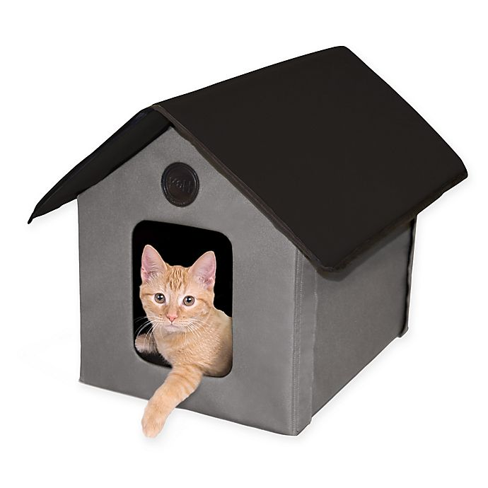 Alternate image 1 for Kitty House in Grey