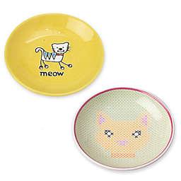 PetRageous Designs 2.5 oz. Silly Kitty Pet Saucer