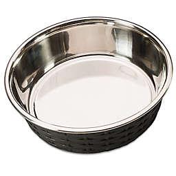 Soho Basketweave Pet Dish in Black
