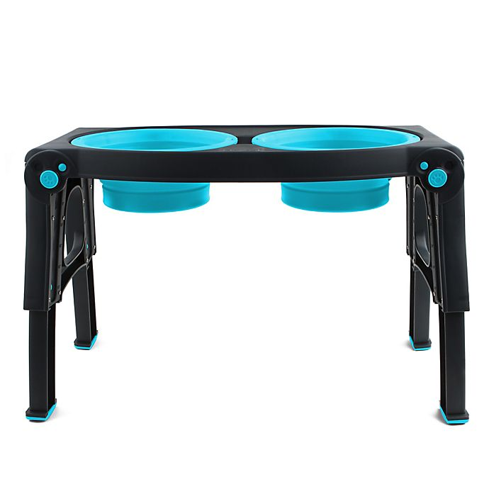 Alternate image 1 for Adjustable Height Double Feeder in Blue