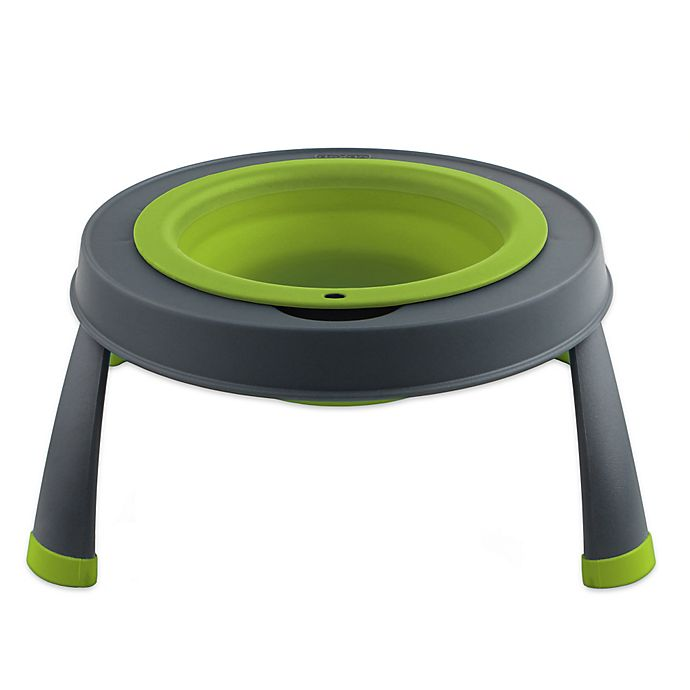 Alternate image 1 for Small Single Elevated Pet Feeder in Green