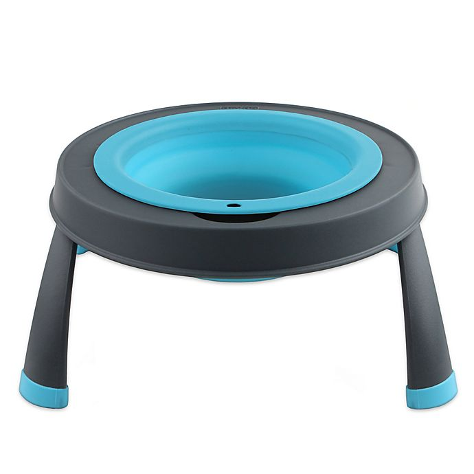 Alternate image 1 for Small Single Elevated Pet Feeder in Blue