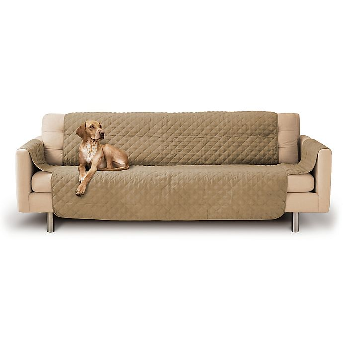 Micro Suede Quilted Sofa Couch Slipcover Bed Bath Amp Beyond