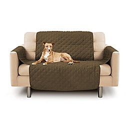 Precious Tails Durable Quilted Microsuede Loveseat Cover in Camel
