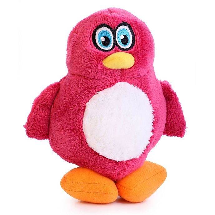 Alternate image 1 for Hear Doggy Small Penguin Dog Toy in Pink