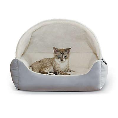 Hooded Lounge Sleeper™ Snuggle Pet Bed in Grey