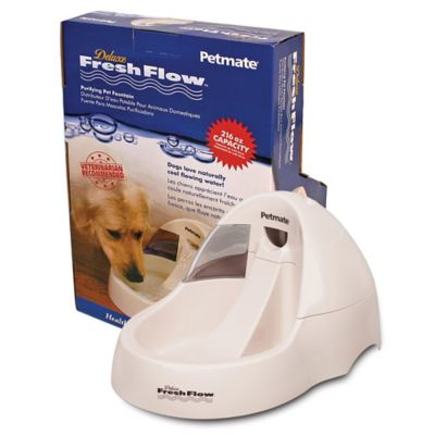 Petmate® Deluxe Fresh Flow 216 oz. Pet Waterer in White