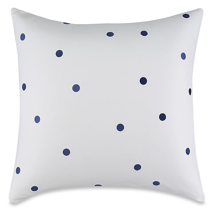 Alternate image 1 for kate spade new york Willow Court Deco Dot European Pillow Sham in Navy