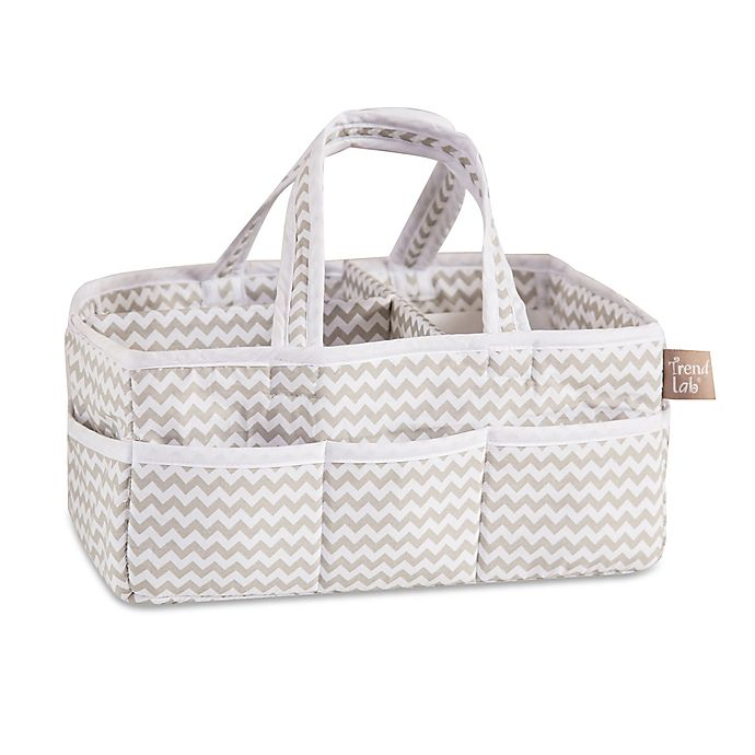 Alternate image 1 for Trend Lab® Ombre Grey Chevron Diaper Caddy