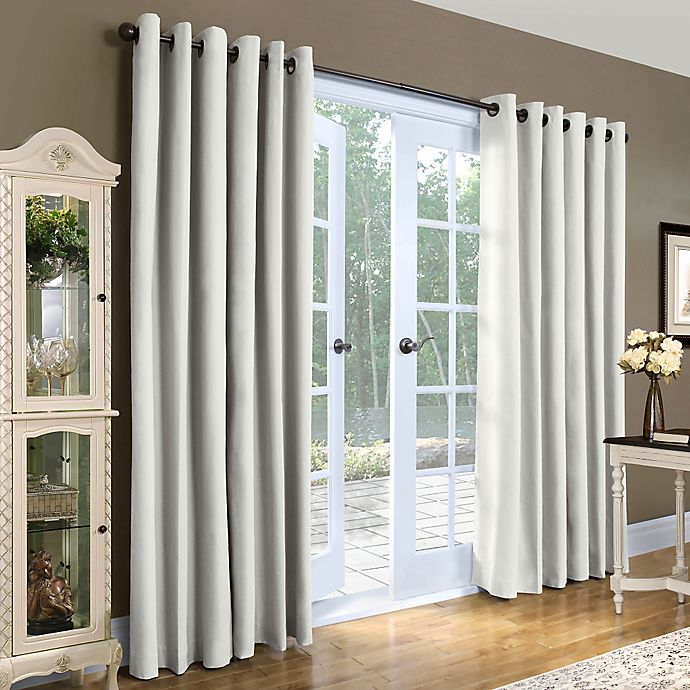 Alternate image 1 for Thermalogic® Weathermate 84-Inch Double-Width Grommet Top Window Curtain Panel Pair in White