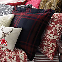 Cozy Merry Plaid Standard Pillow Sham in Red/Black