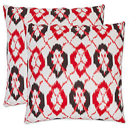 Safavieh Argyle Throw Pillows in Red (Set of 2)