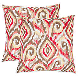Safavieh Bardot Throw Pillows in Brown (Set of 2)