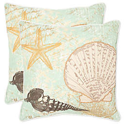 Safavieh Eve Throw Pillows in Seafoam/Green (Set of 2)