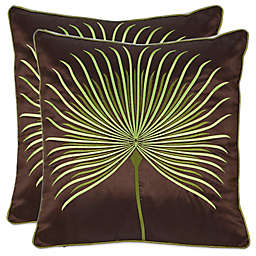 Safavieh Leste Verte Throw Pillows in Green (Set of 2)