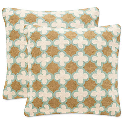 Safavieh Carna Throw Pillows in Amist Green (Set of 2)