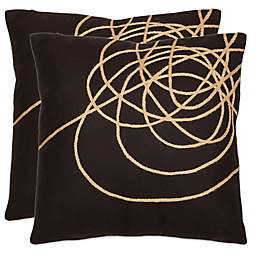 Safavieh Coiled Darter Throw Pillows in Brown/Tan (Set of 2)