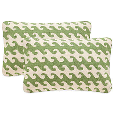Safavieh Linos Throw Pillows in Green (Set of 2)