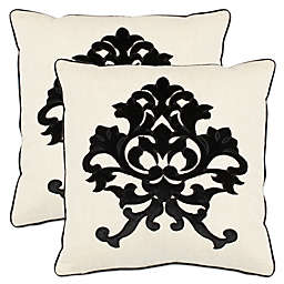 Safavieh Mason Throw Pillows in Onyx (Set of 2)