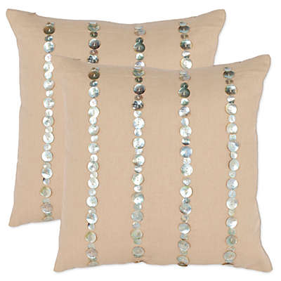 Safavieh Jenna Throw Pillows in Almond (Set of 2)