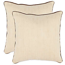 Safavieh Gunnar Throw Pillows in Wheat (Set of 2)