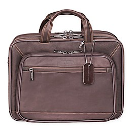 Kenneth Cole Leather EZ-Scan Portfolio in Brown