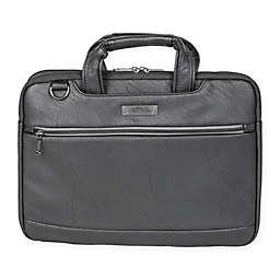 Kenneth Cole Slim Double Gusset Top Zip Laptop Case in Black