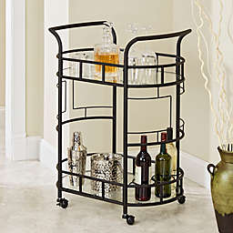 Silverwood Sinclair Serving Cart in Hammered Bronze