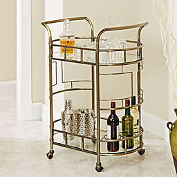 Silverwood Sinclair Serving Cart in Antique Gold
