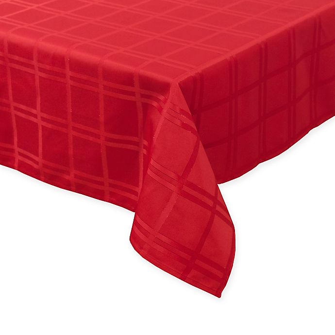 Alternate image 1 for Origins™ Holiday 52-Inch x 70-Inch Oblong Tablecloth in Red