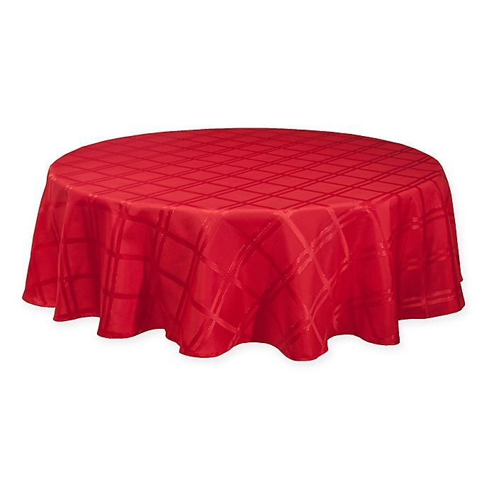 Alternate image 1 for Origins Holiday 70-Inch Round Tablecloth in Red