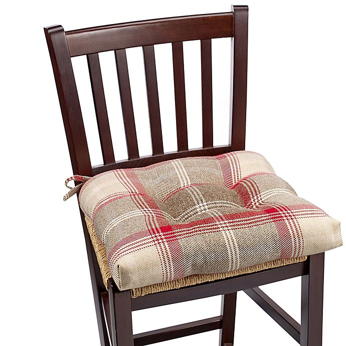 Brevard Chair Pad In Plaid Bed Bath And Beyond Canada