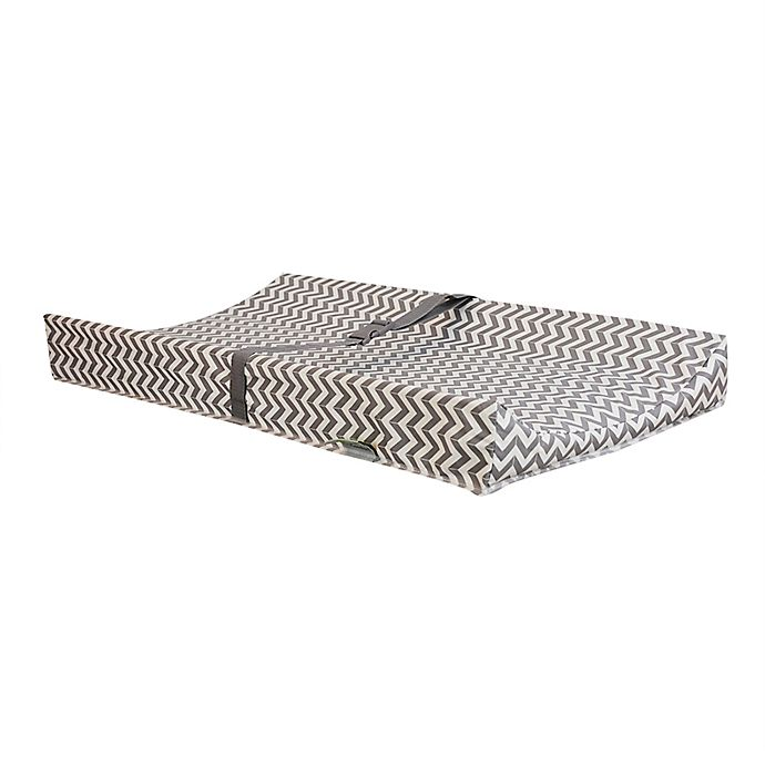 Alternate image 1 for Kidiway® 2-Piece Contour Changing Pad Set in Grey Chevron