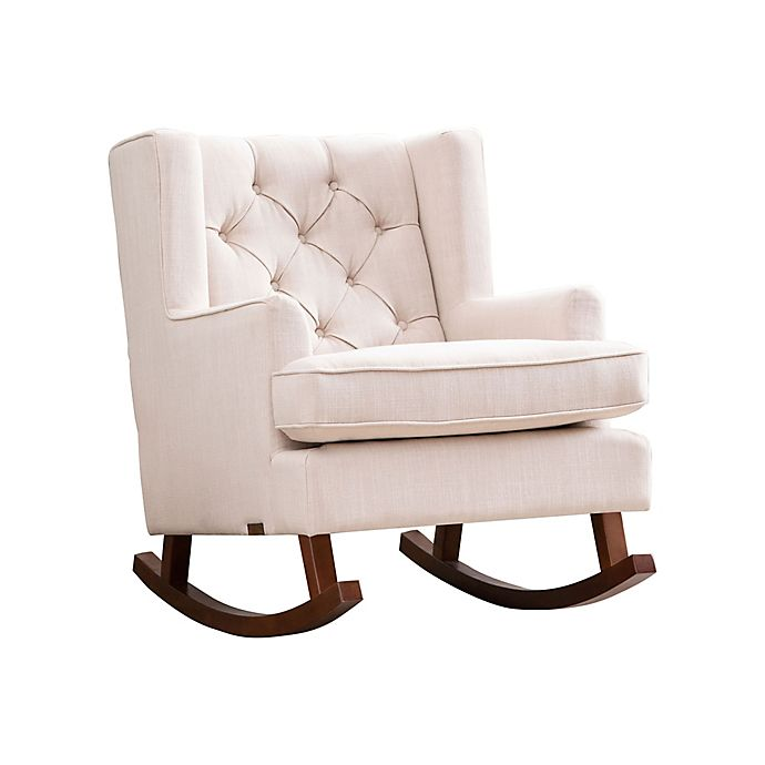 Terrific Abbyson Living Thatcher Rocker In Beige Bed Bath Beyond Pdpeps Interior Chair Design Pdpepsorg