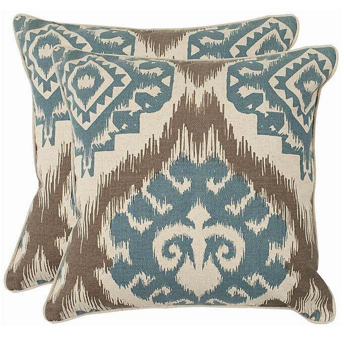Alternate image 1 for Safavieh Amiri 22-Inch x 22-Inch Throw Pillows (Set of 2)