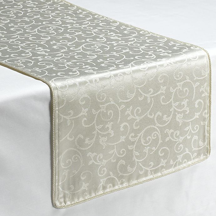 Alternate image 1 for Lenox® Opal Innocence™ 70-Inch Decorative Table Runner in White