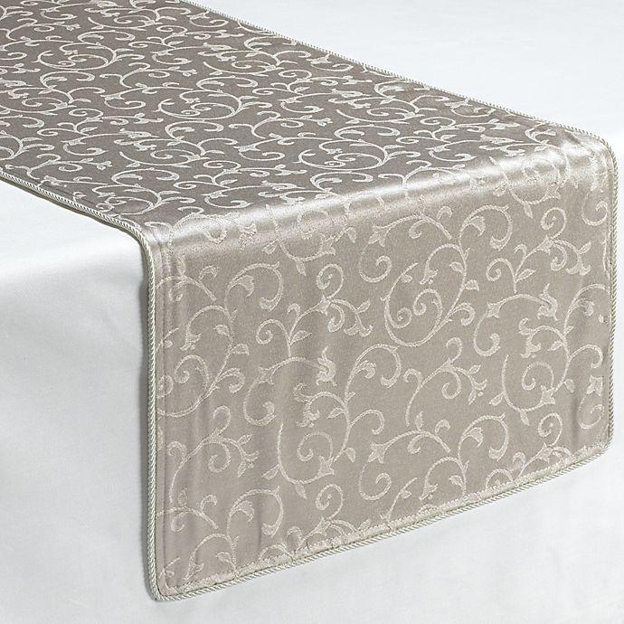 Alternate image 1 for Lenox® Opal Innocence™ Platinum 90-Inch Decorative Table Runner
