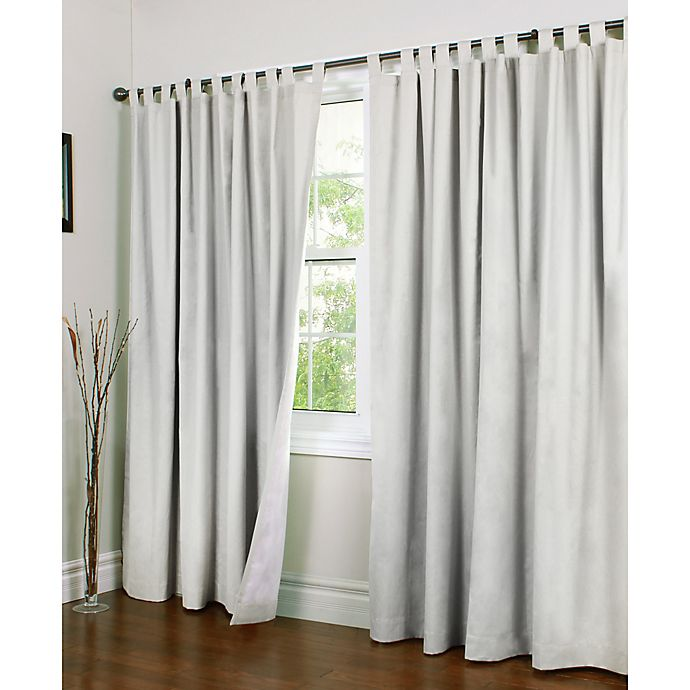 Alternate image 1 for Thermalogic® Weathermate 84-Inch Double-Width Tab Top Window Curtain Panel Pair in White