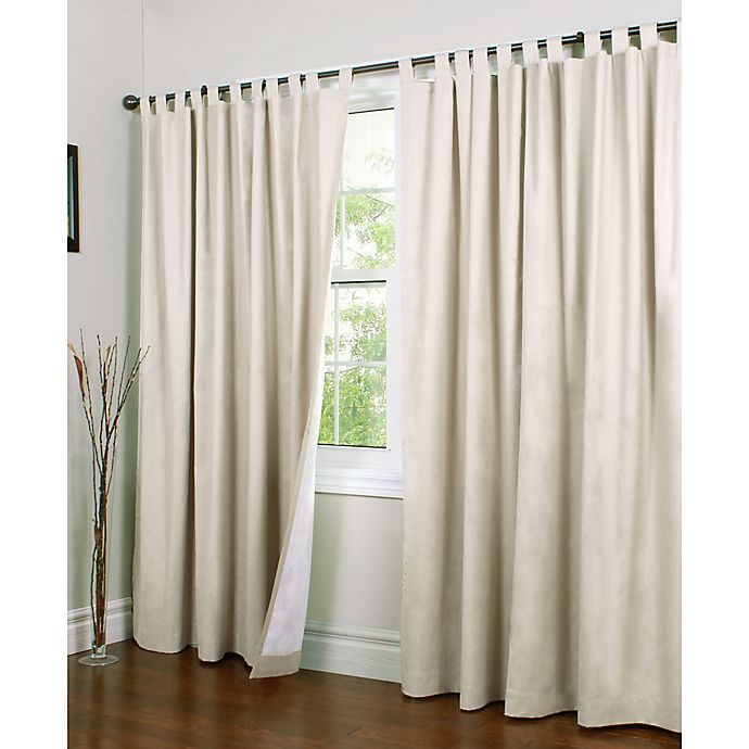 Alternate image 1 for Thermalogic® Weathermate 84-Inch Double-Width Tab Top Window Curtain Panel Pair in Natural