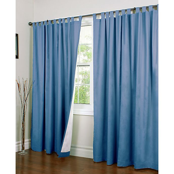 Alternate image 1 for Thermalogic® Weathermate 84-Inch Double-Width Tab Top Window Curtain Panel Pair in Blue